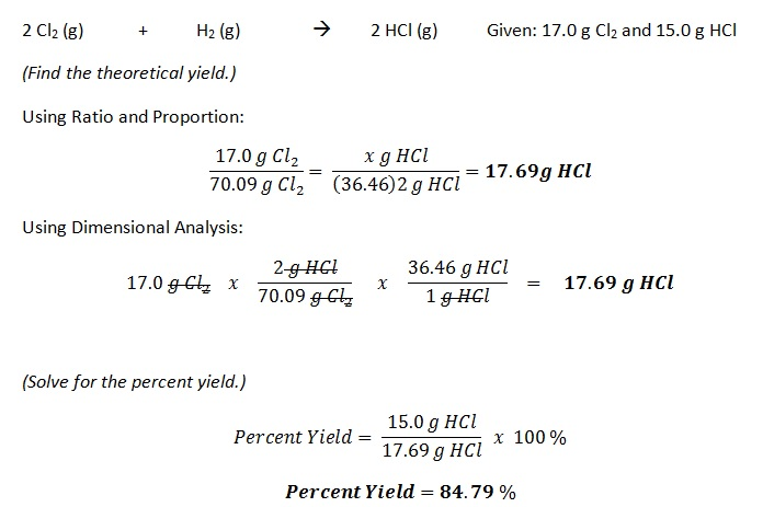 Percentage Yield - The Way of Chemistry